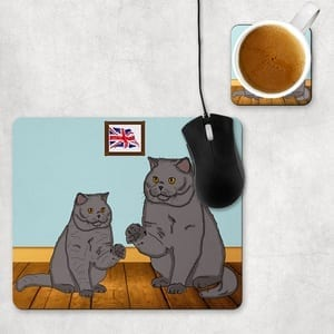 British Shorthair Mouse Mats