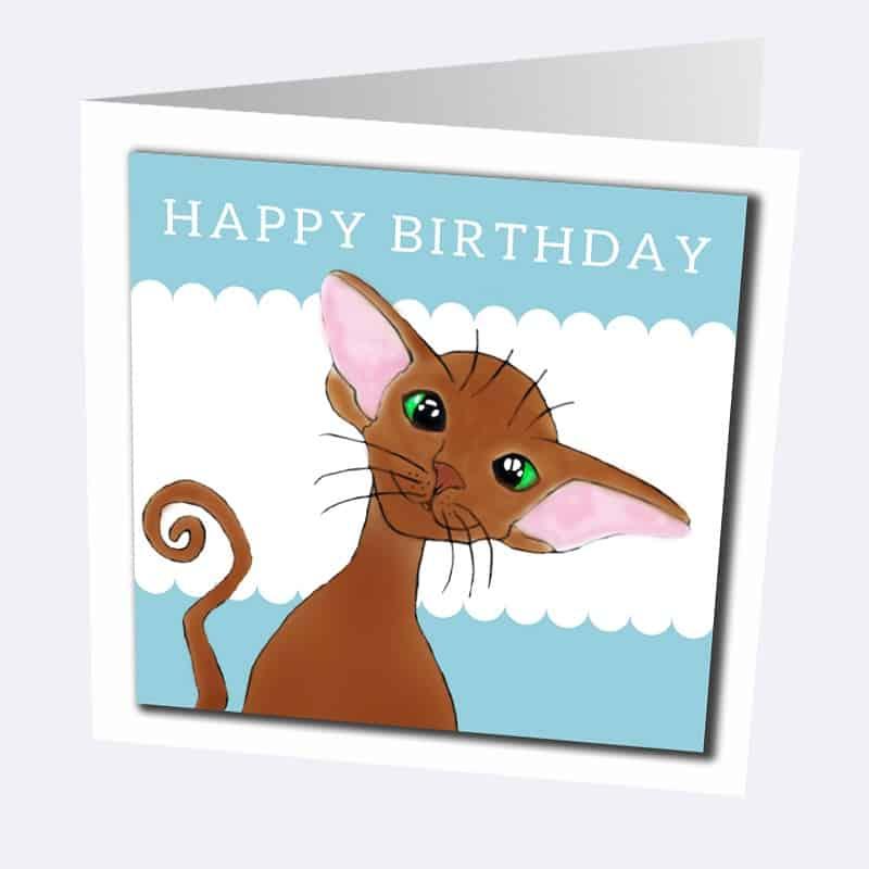 Oriental cat greetings cards