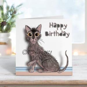 Lykoi Cat Cards